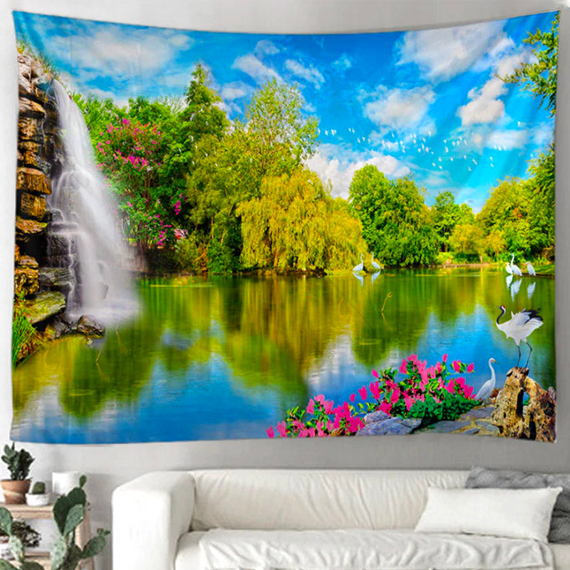 Blue Skies Lake Tapestry