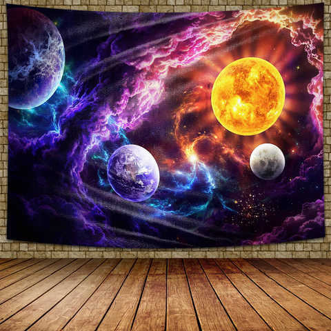 Electric Space Tapestry