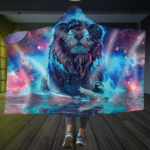Lion of the Stars Hooded Blanket