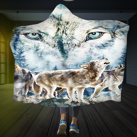 Wolves Of Winter Hooded Blanket