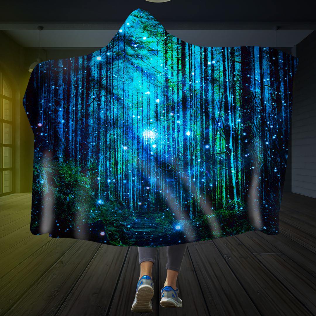 Sparkling Woods Hooded Blanket