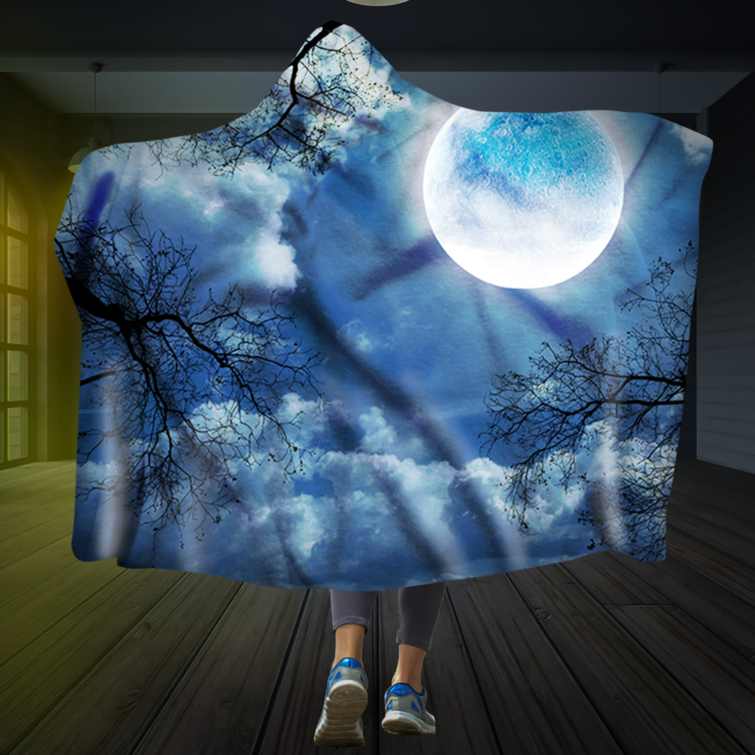 Under The Moon Hooded Blanket
