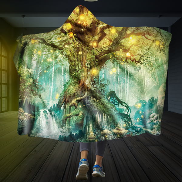 Tree Of Light Hooded Blanket
