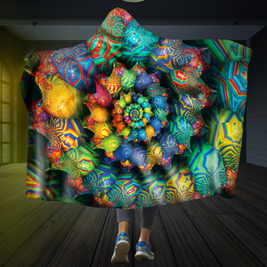 Kaleidoscope Dream Hooded Blanket