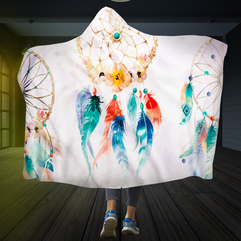 Colorful Dream Catcher Hooded Blanket