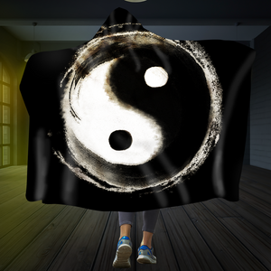 Tai Chi Yin Yang Hooded Blanket