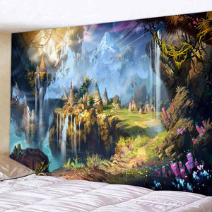 Magic Village Tapestry