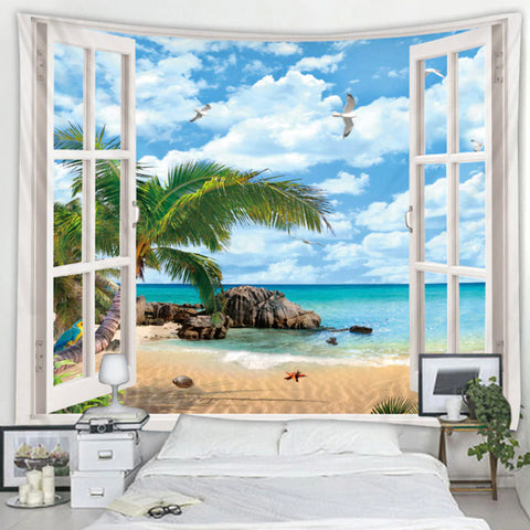 Open Window Ocean Tapestry