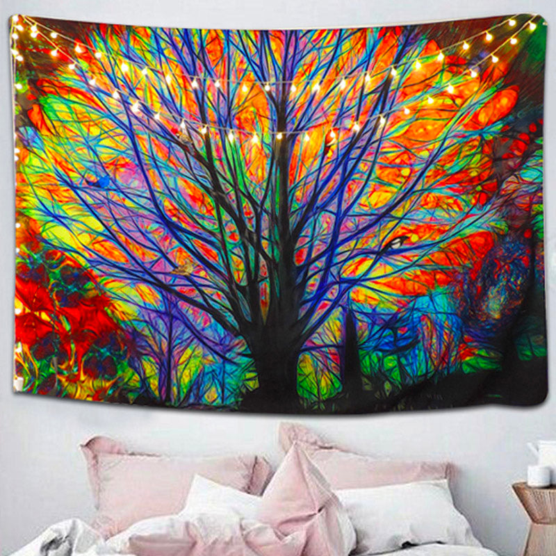 Rainbow Roots Tree Tapestry