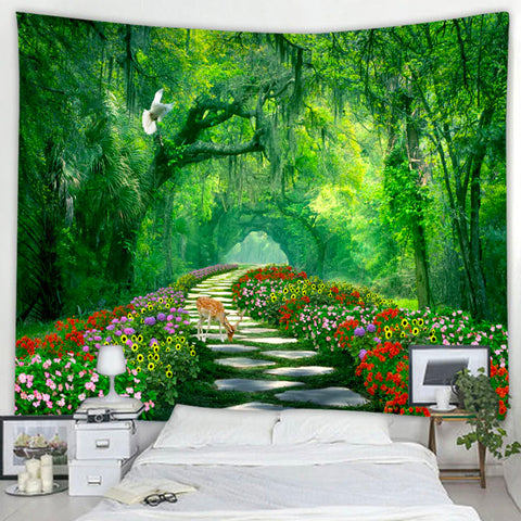 Rainforest Path Tapestry