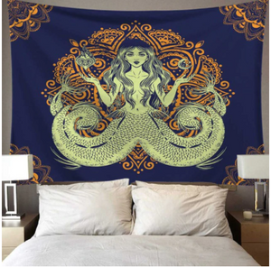 Trippy Mermaid Tapestry