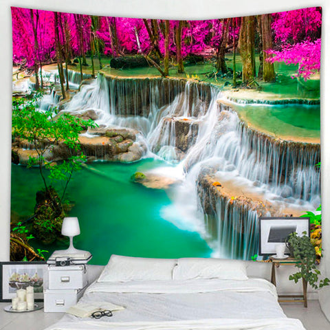 Turquoise Waterfall Bay Tapestry