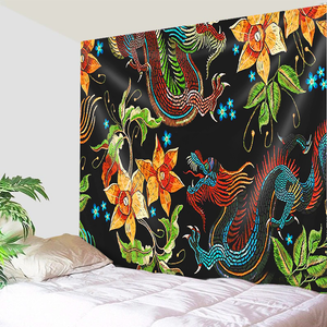 Dragon Flower Dreams Tapestry