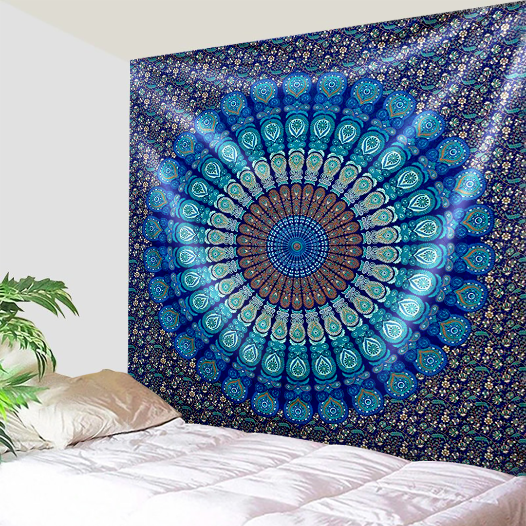 Elegant Peacock Feathers Tapestry