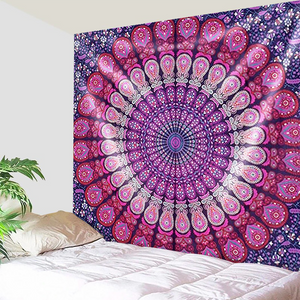 Lovely Purple Peacock Feathers Tapestry