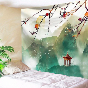 Green Painted Mountains Tapestry