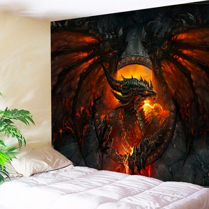 Dragon on Fire Tapestry