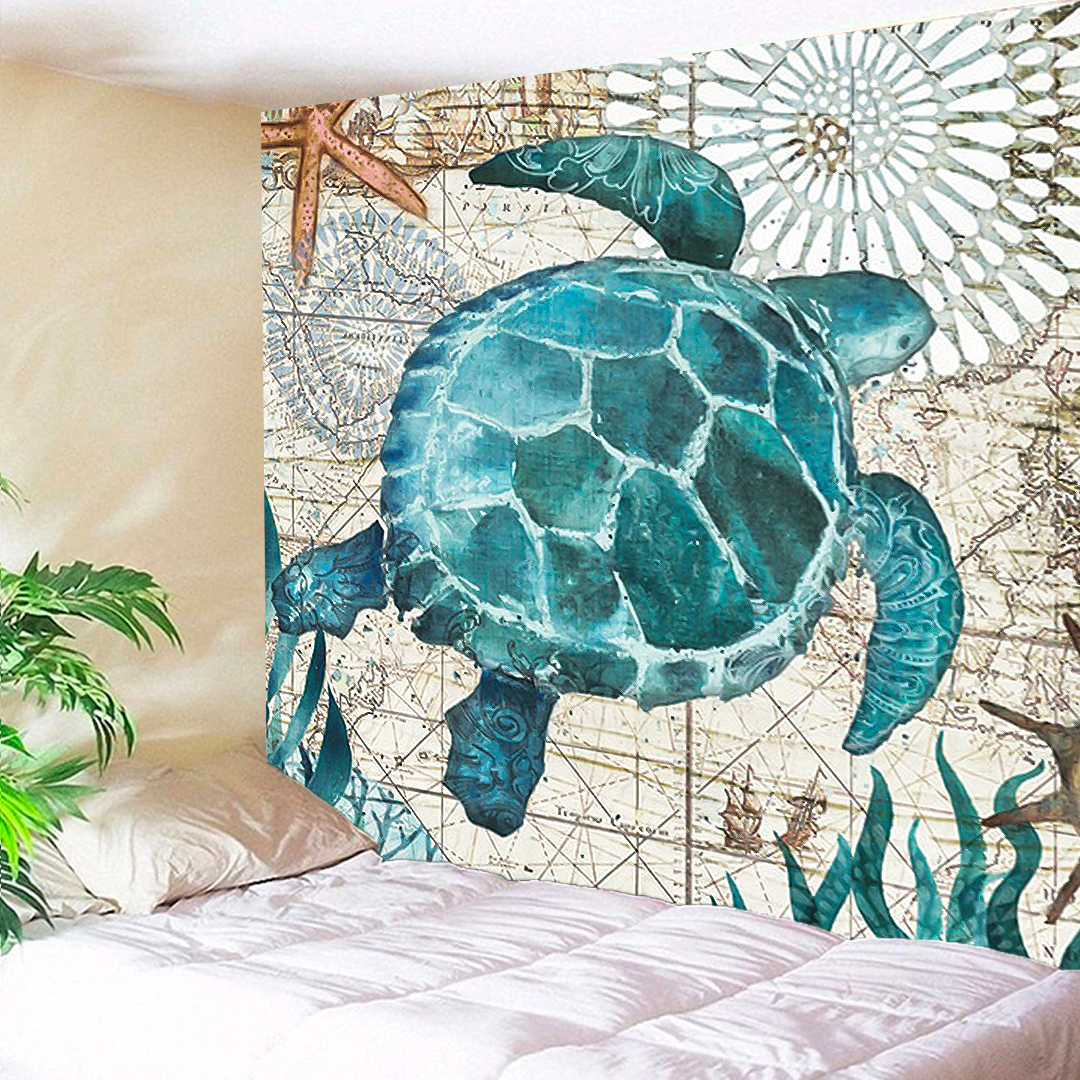 Turquoise Turtle Tapestry