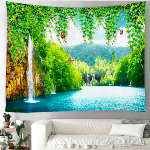 Waterfall Paradise Tapestry