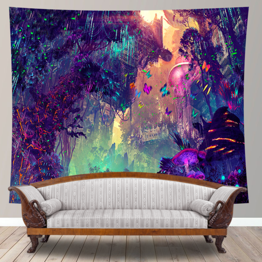 Butterfly Forest Tapestry