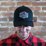 Black Snapback with Grey Patch