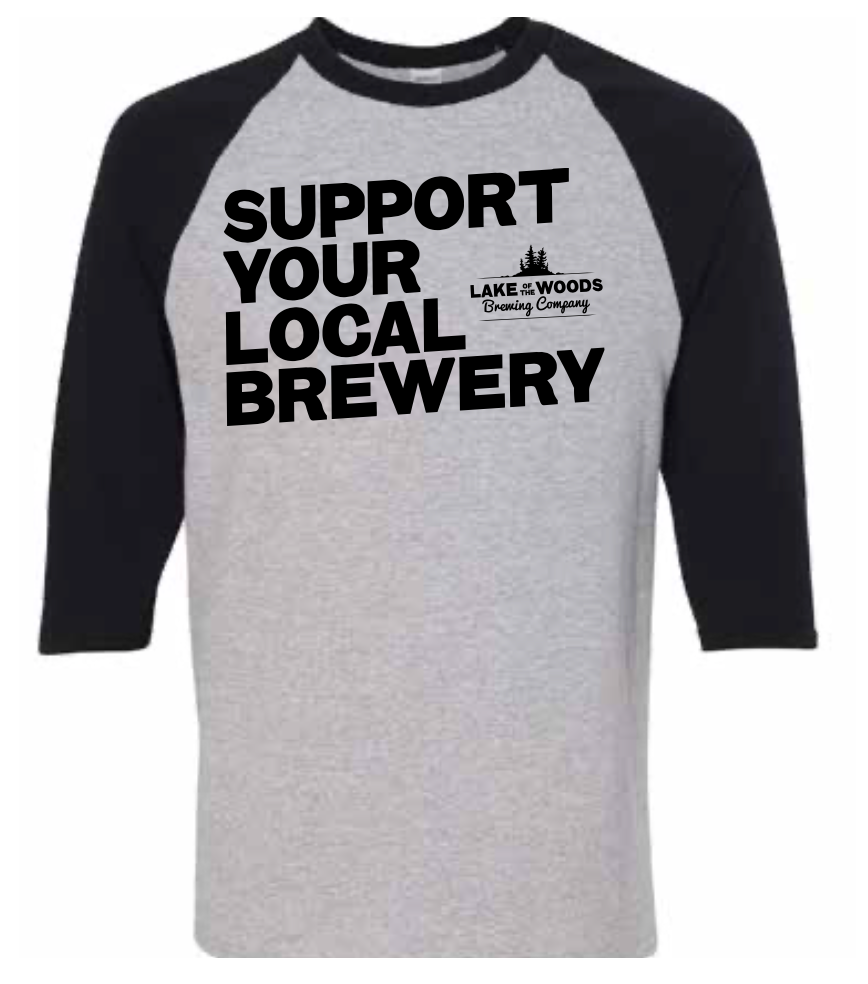 Support Your Local Brewery Baseball Tee