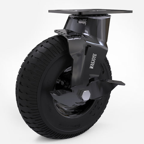 WASJOYE 8in flat free 200mm pneumatic casters wheel