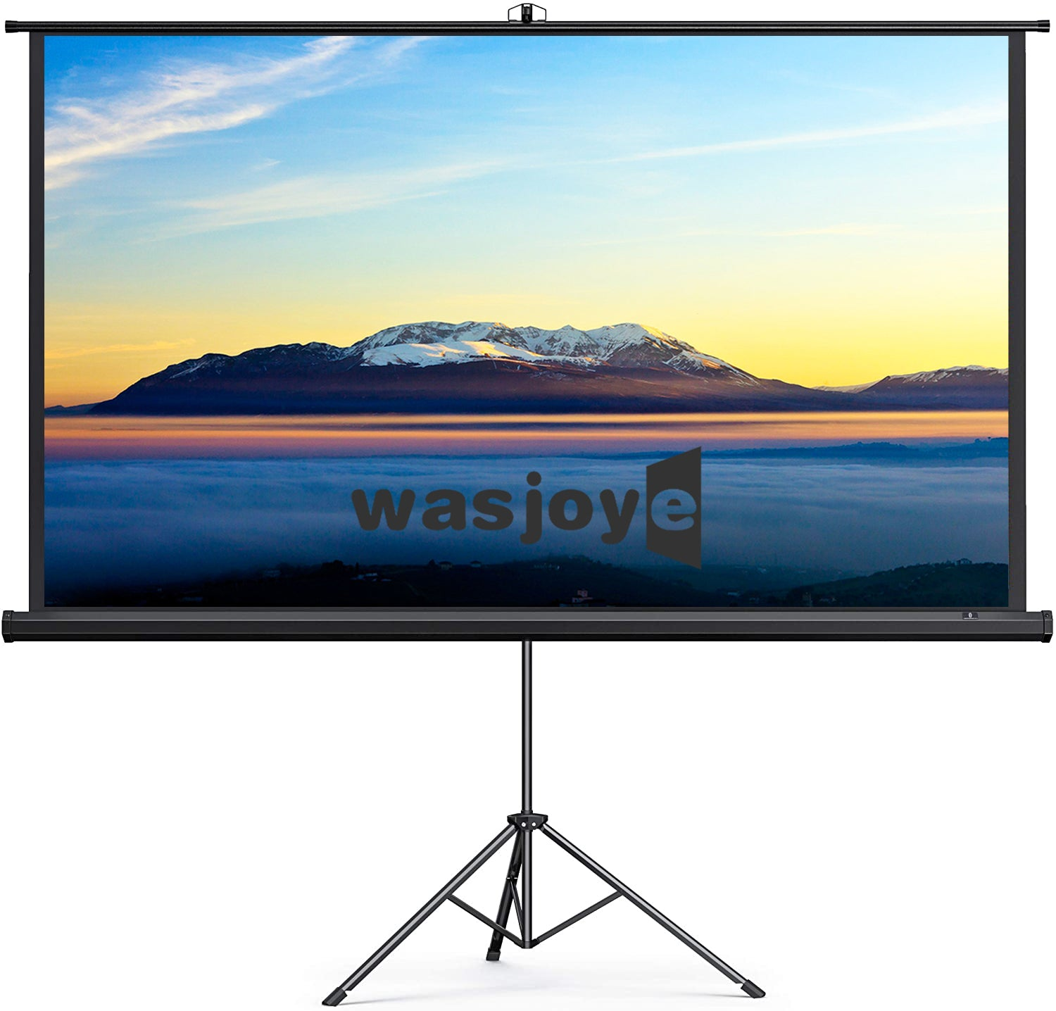 Projector Screen with Foldable Stand Tripod, Portable Video HD 70 inch Indoor Outdoor Movie Screen Wrinkle-Free Pull Up Adjustable Design for Home Cinema Projection