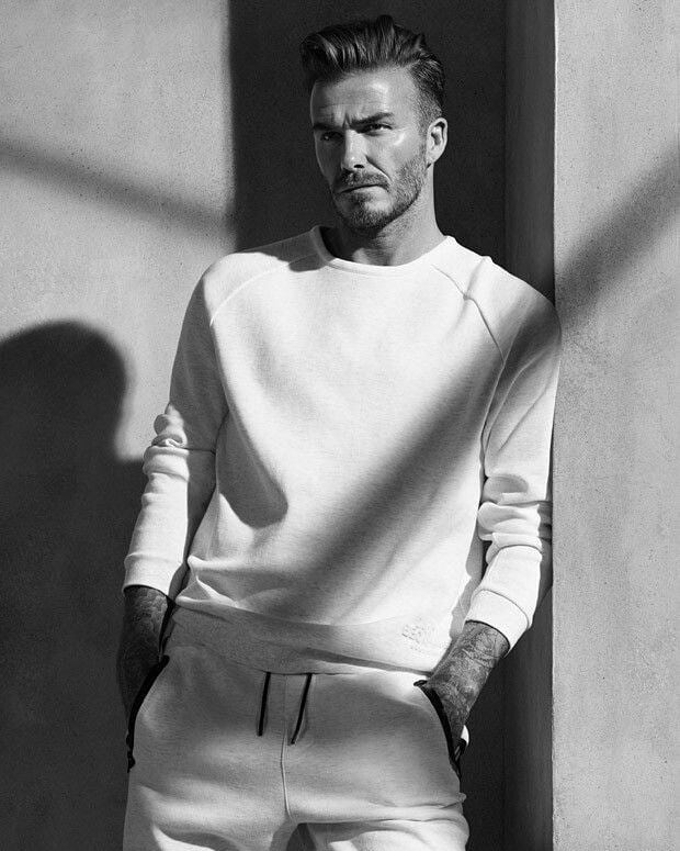 David Beckham has a unique boot style