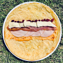 Load image into Gallery viewer, Turkey, bacon, brie and dried cranberry egg wrap