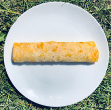 Load image into Gallery viewer, Pulled pork, roasted sweet potato and kaleslaw egg wrap