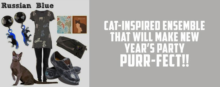 One Cat-Inspired Ensemble That Will Make New Year's Party Purr-Fect