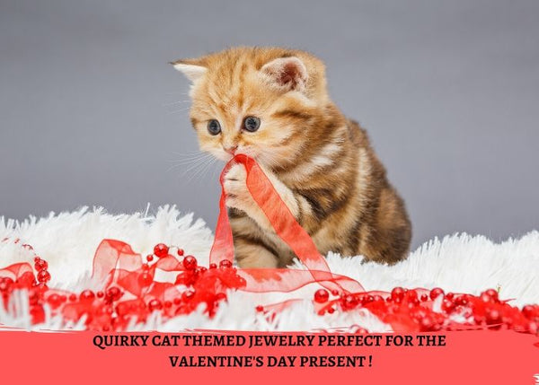 Quirky Cat Themed Jewelry Perfect For The Valentine's Day Present !