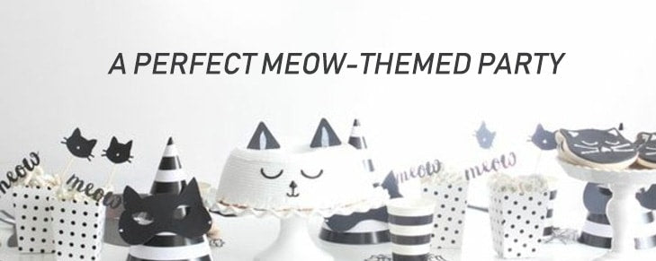 Throw the Purr-fect Cat Themed Birthday Party for Your Kid's Friends