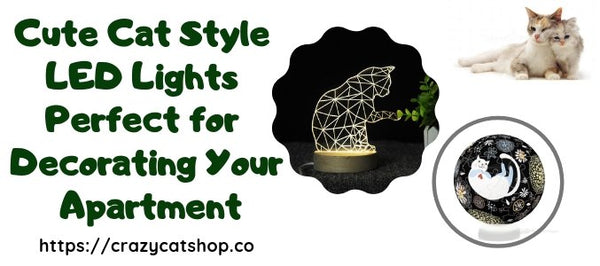 Cute Cat Style LED Lights Perfect for Decorating Your Apartment