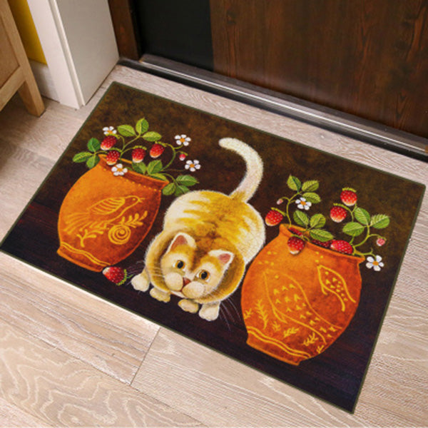 Welcome Home Cat Door Mat