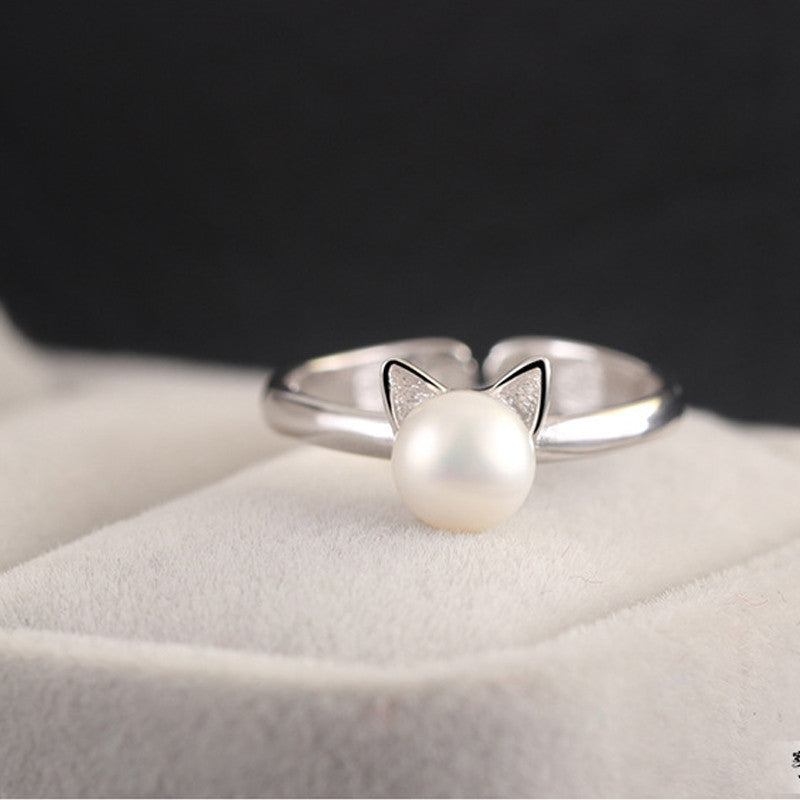 You're All Mine Cat and Pearl Ring