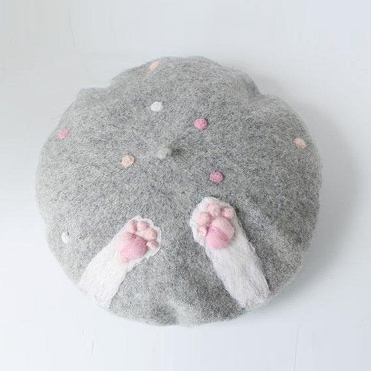 aaeaa071485 Get the Caturday Handmade Beret Hat at Cat Gift Store