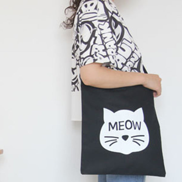 Kitty Meow Canvas Sling Bag