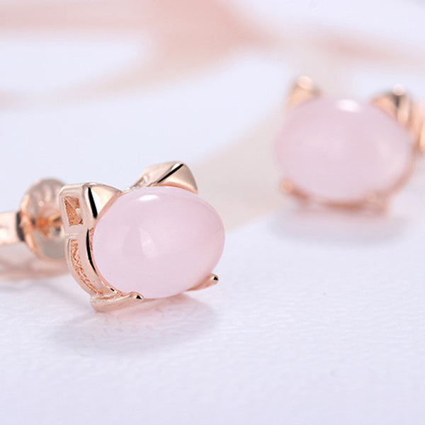 Meow Gem Stud Earrings