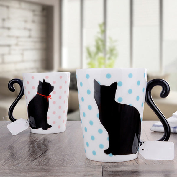 Love Kitty Porcelain Couple Mug