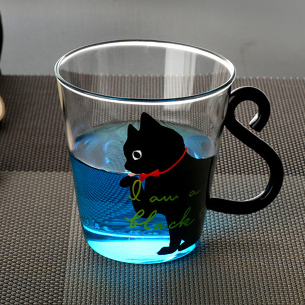Good Morning Kitty Glass Mug