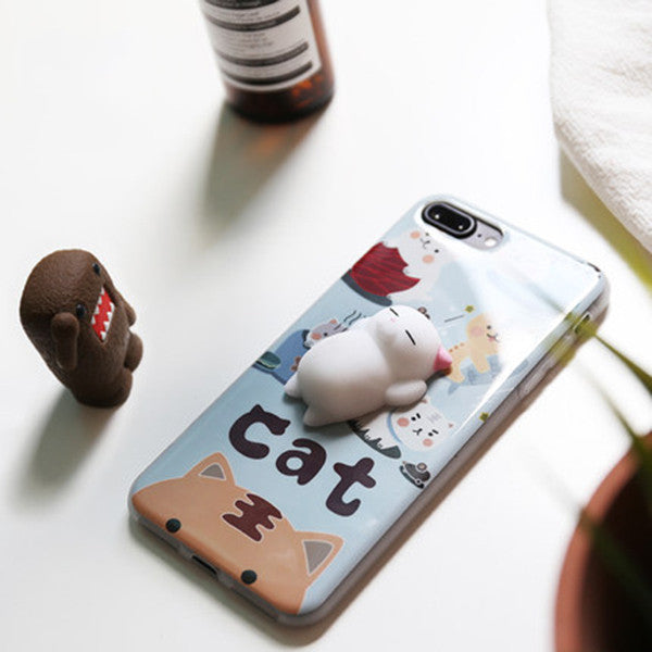 Squishy Stress relief Chubby Cat Phone Case
