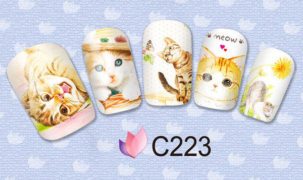 Cat Lover Nail Art Decals - One Cool Gift  - 5