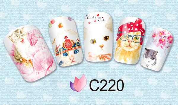 Cat Lover Nail Art Decals - One Cool Gift  - 2