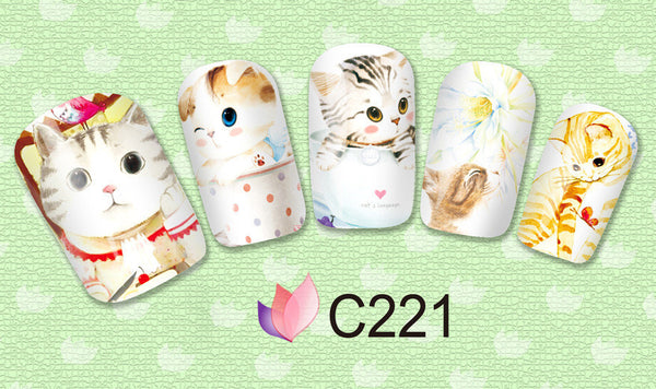 Cat Lover Nail Art Decals - One Cool Gift  - 3
