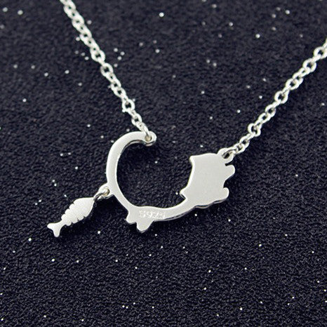 My Silly Cat Silver Necklace