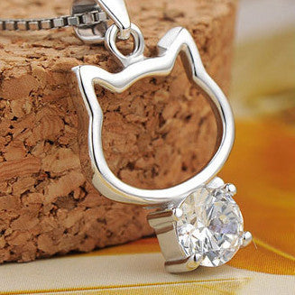 I'm A Cat Lover 925 Sterling Silver Necklace