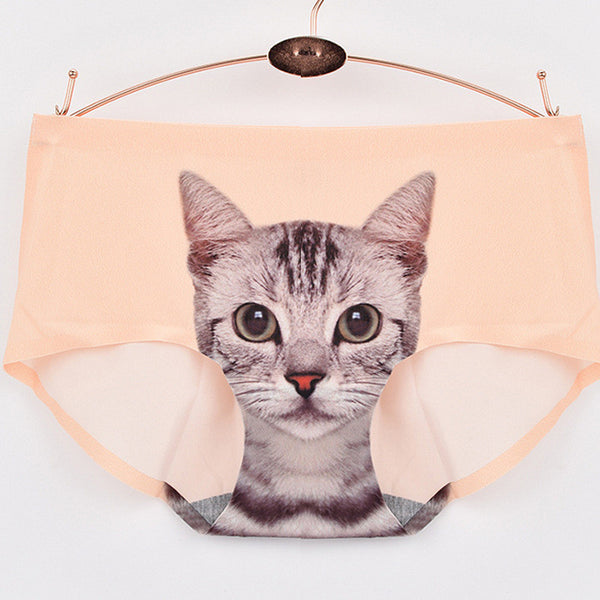 My Crazy Cat Seamless Panties - One Cool Gift  - 6