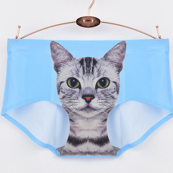 My Crazy Cat Seamless Panties - One Cool Gift  - 5